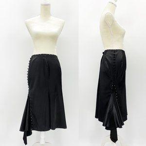 Lip Service Satin Midi Trumpet Skirt Asymmetrical